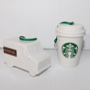 2016 Starbucks Coffee Mug & Truck Ornaments